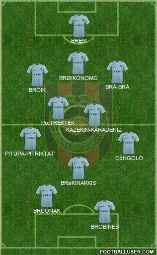 IF Brommapojkarna 3-4-1-2 football formation
