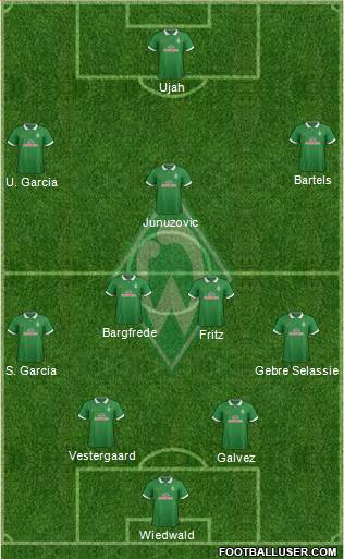 Werder Bremen 4-2-3-1 football formation