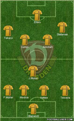 SG Dynamo Dresden 4-5-1 football formation