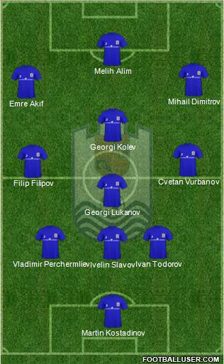 OFK Dorostol 2003 (Silistra) 3-4-3 football formation