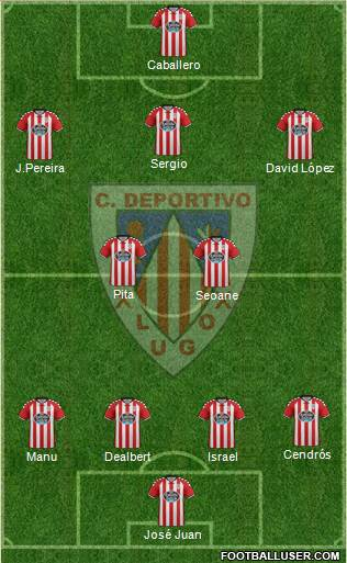 C.D. Lugo 4-5-1 football formation