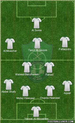 Al-Ahli (KSA) 4-2-3-1 football formation