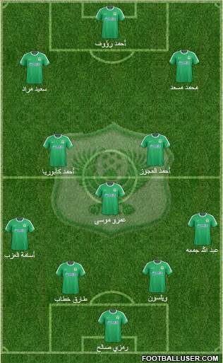 Masry Port Said 4-3-2-1 football formation