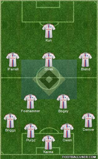 Hamburger SV 4-2-2-2 football formation