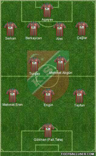 Karsiyaka 4-2-3-1 football formation
