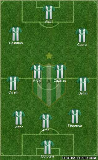 Banfield 3-4-2-1 football formation