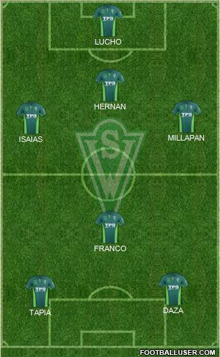 CD Santiago Wanderers S.A.D.P. 4-1-2-3 football formation