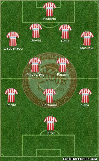 Olympiakos SF Piraeus 3-5-1-1 football formation