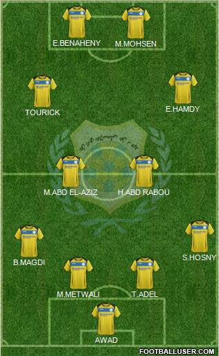 Ismaily Sporting Club 4-2-2-2 football formation