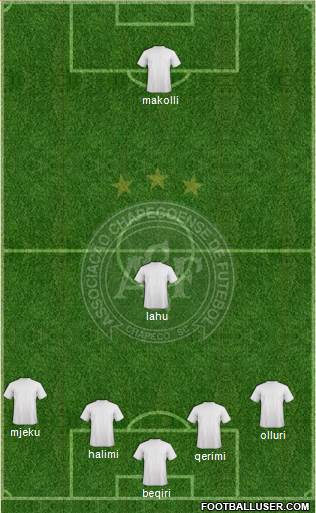 A Chapecoense F 4-4-1-1 football formation