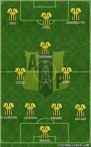 Alianza Petrolera AS 4-2-2-2 football formation