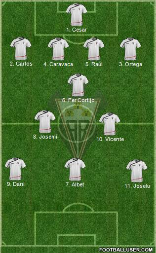 Albacete B., S.A.D. 3-4-3 football formation