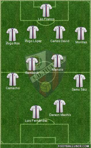 S.D. Huesca 4-5-1 football formation
