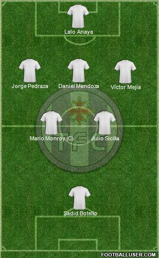 Toulouse Football Club 3-4-2-1 football formation