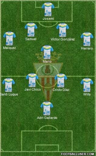 Algeciras C.F. 4-1-4-1 football formation