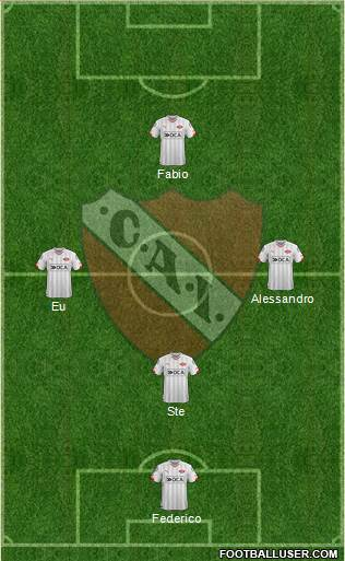 Independiente 3-4-2-1 football formation