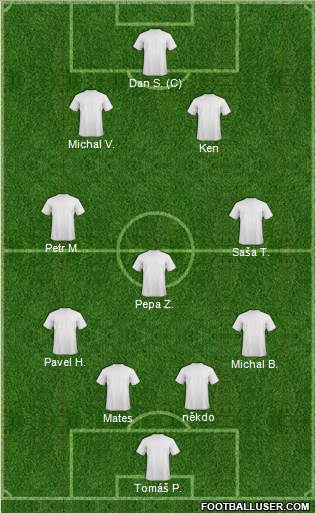 Fifa Team 4-2-2-2 football formation