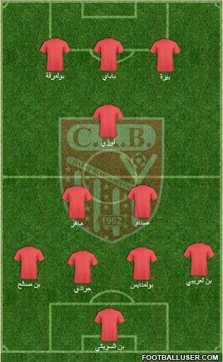 Chabab Riadhi Belouizdad 4-4-2 football formation