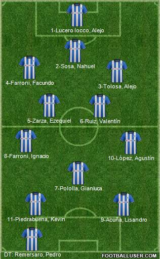 Wigan Athletic 4-1-4-1 football formation
