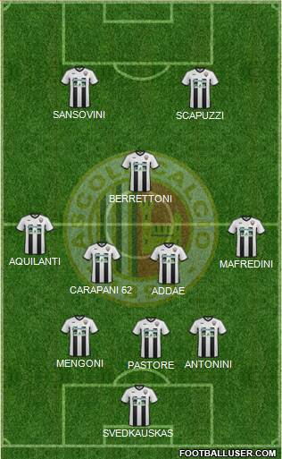 Ascoli 4-2-2-2 football formation