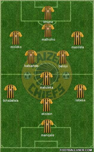 Kaizer Chiefs 3-5-1-1 football formation