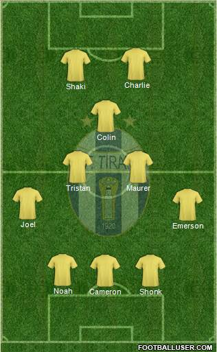 KF Tirana 5-3-2 football formation