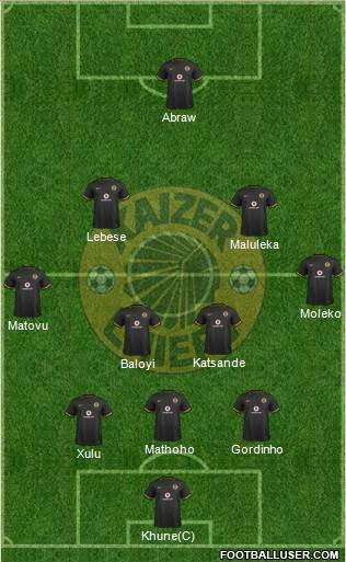Kaizer Chiefs 3-4-2-1 football formation