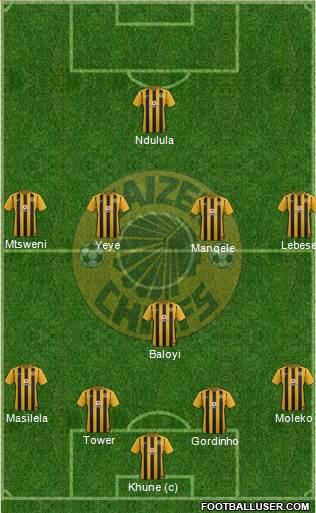 Kaizer Chiefs 4-4-2 football formation