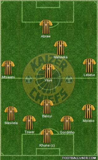 Kaizer Chiefs 4-4-1-1 football formation