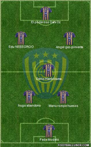 C Sportivo Luqueño 4-4-2 football formation