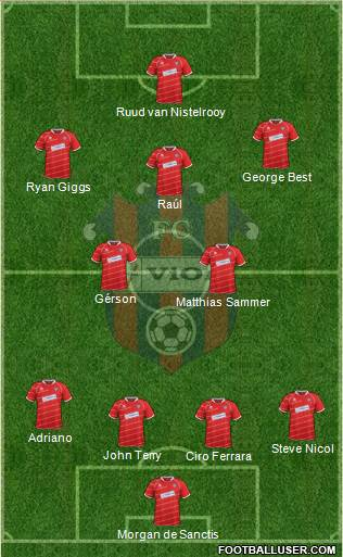 FC ViOn Zlate Moravce 4-2-3-1 football formation