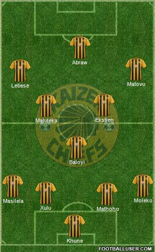 Kaizer Chiefs 4-1-2-3 football formation