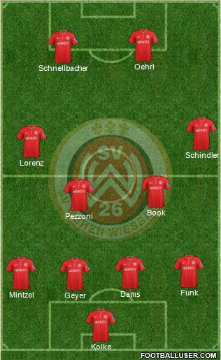 SV Wehen Wiesbaden 4-4-2 football formation