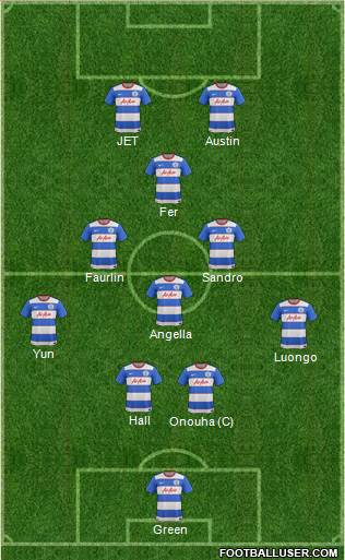 Queens Park Rangers 4-2-2-2 football formation