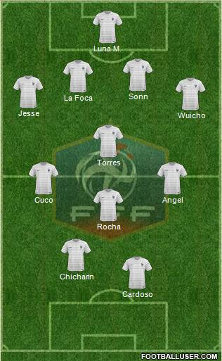 France 4-3-1-2 football formation