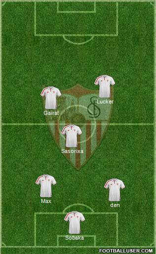 Sevilla F.C., S.A.D. 5-4-1 football formation