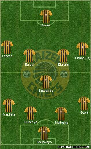 Kaizer Chiefs 4-1-4-1 football formation