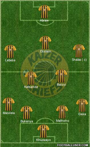 Kaizer Chiefs 4-2-3-1 football formation