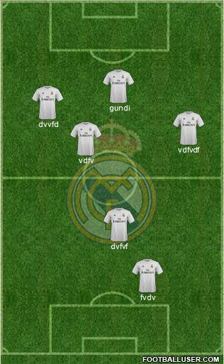 Real Madrid C.F. 5-4-1 football formation