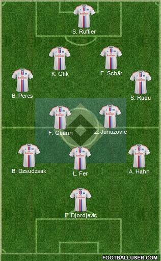 Hamburger SV 4-2-3-1 football formation