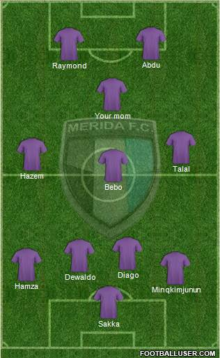 Mérida Futbol Club 4-3-2-1 football formation