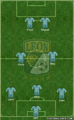 Club Deportivo León 3-5-2 football formation
