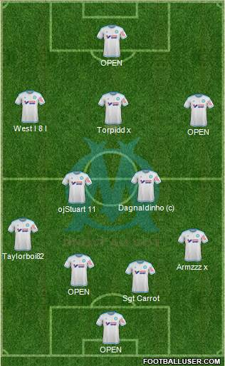Olympique de Marseille 3-5-2 football formation