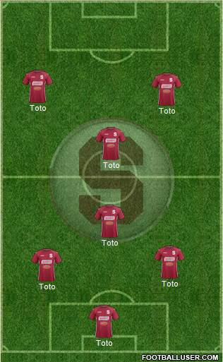 CD Saprissa 4-3-3 football formation