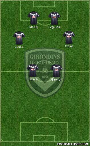 FC Girondins de Bordeaux 3-5-1-1 football formation
