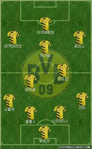 Borussia Dortmund 4-2-3-1 football formation
