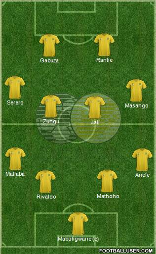 South Africa 4-2-3-1 football formation