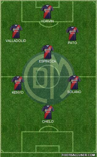 CC Deportivo Municipal 5-4-1 football formation