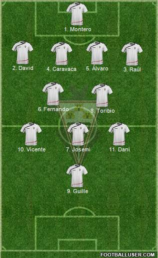 Albacete B., S.A.D. 3-4-2-1 football formation