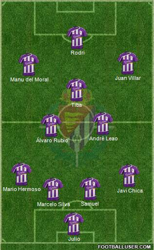 R. Valladolid C.F., S.A.D. 4-2-3-1 football formation